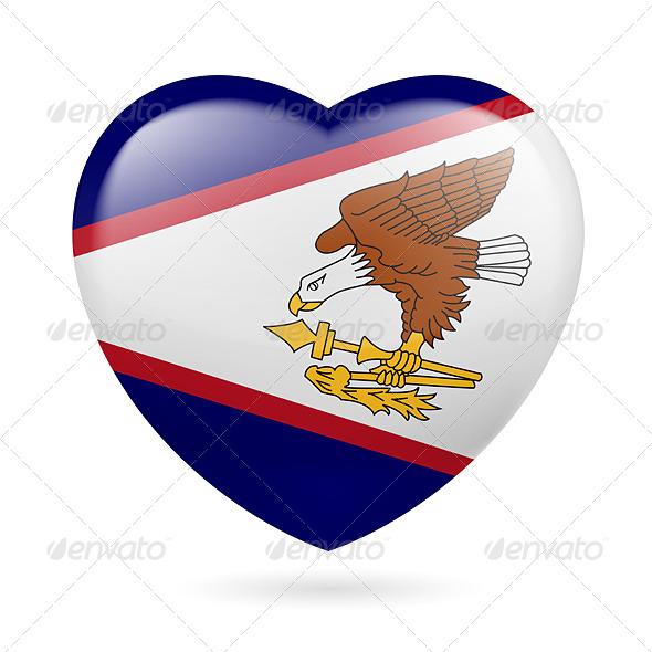 Heart Icon of American Samoa