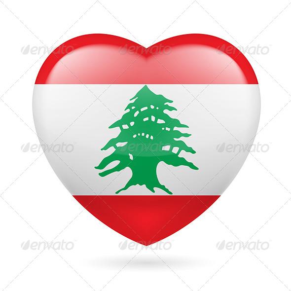 Heart Icon of Lebanon