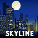 City Skyline at Night Abstract Web Illustration - GraphicRiver Item for Sale