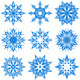 Vector Illustration of the Snowflakes - GraphicRiver Item for Sale