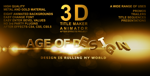 3D Gold Text Effect Video Effects & Stock Videos from VideoHive