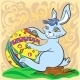 Easter Bunny with Big Egg and Brush - GraphicRiver Item for Sale