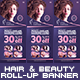 Hair & Beauty Rollup Banner - GraphicRiver Item for Sale