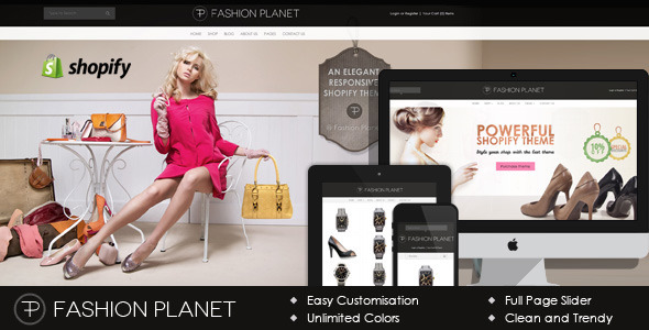 Parallax Shopify Theme - Fashion Planet