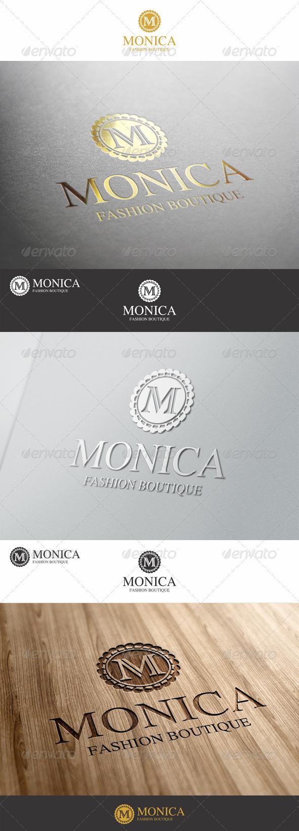M Letter Fashion Boutique Logo
