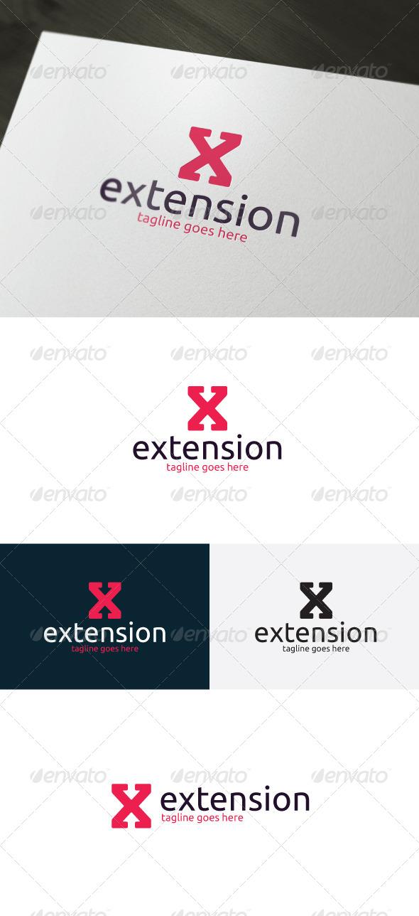Extension Logo — Letter X