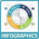 Modern Puzzle Technology Circle Chart Infographics - GraphicRiver Item for Sale