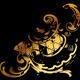 Ornate Gold Curves On Black - GraphicRiver Item for Sale