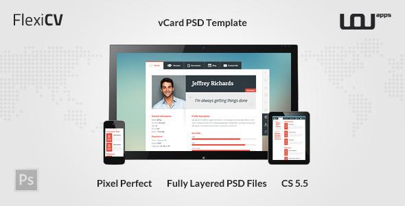 FlexiCV - vCard PSD Template