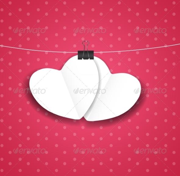 Valentines Day Paper Heart Background