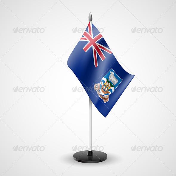 Table Flag of Falkland Islands