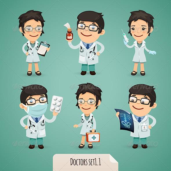 Doctors Cartoon Characters Set1.1