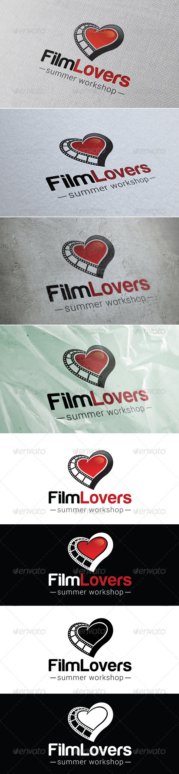 Film Lovers Logo Template