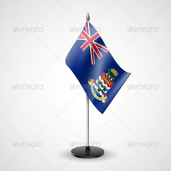 Table Flag of Cayman Islands