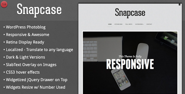 Snapcase - Responsive WordPress Photoblog Theme