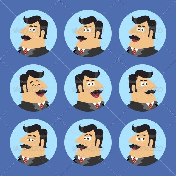 Business Shareholder Icon Set