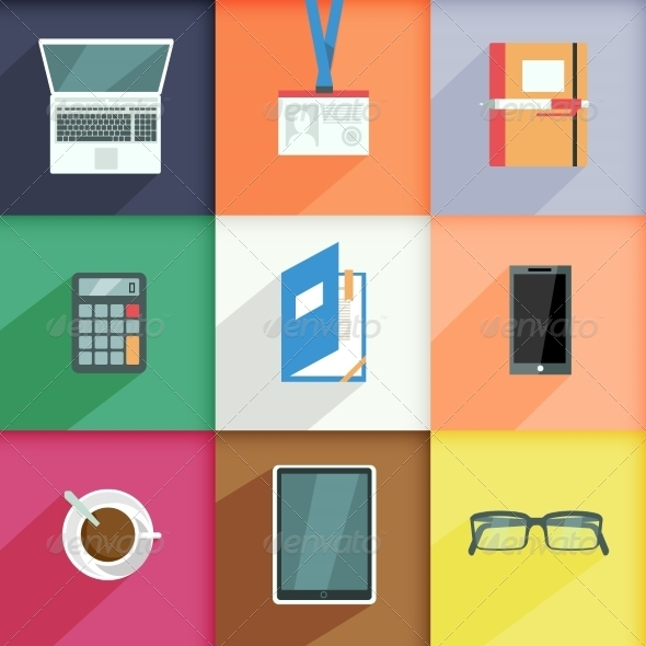 Workplace Business Icons Set