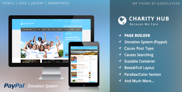 Charity Hub - Nonprofit / Fundraising WordPress