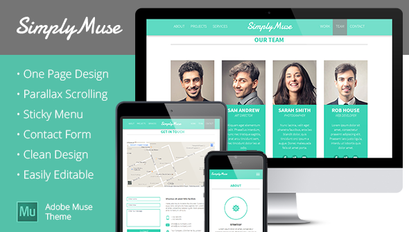 SimplyMuse - One Page Muse Theme