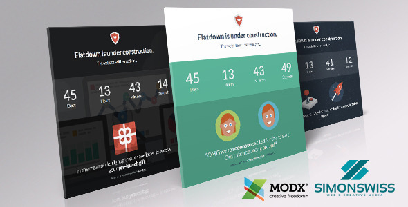 Flatdown - Coming Soon MODX Theme