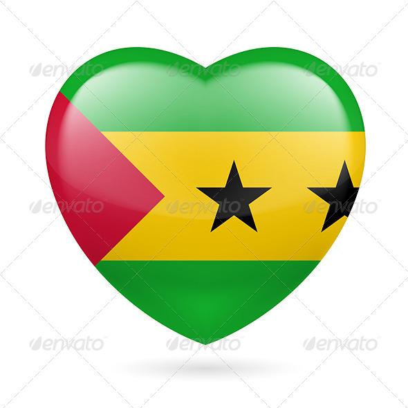 Heart Icon of Sao Tome and Principe