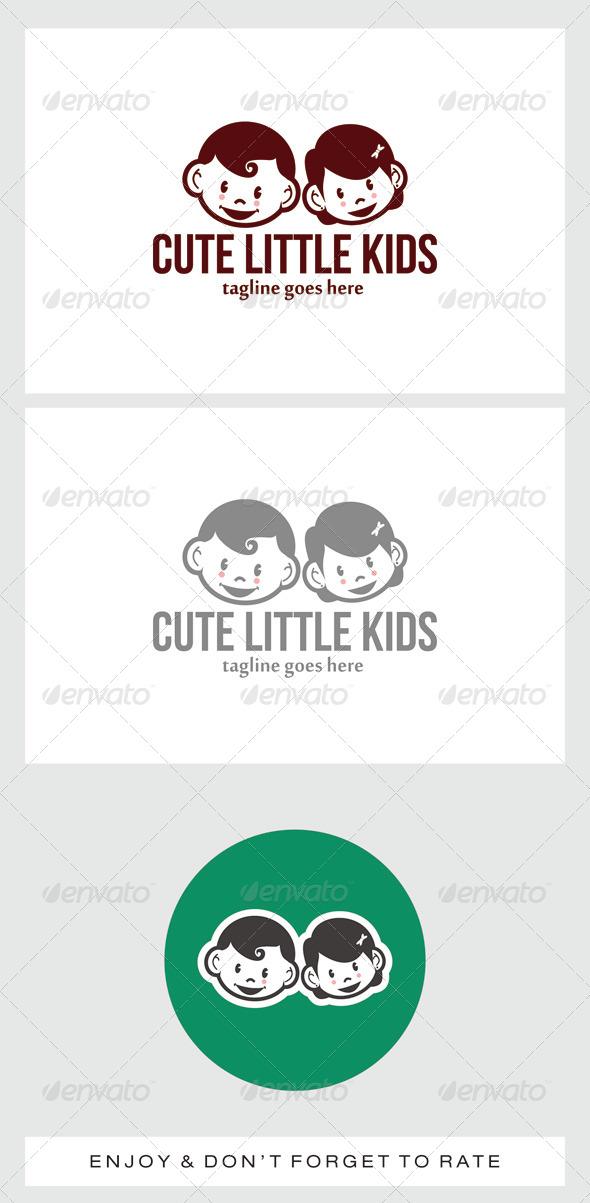 Cute Little Kids Logo