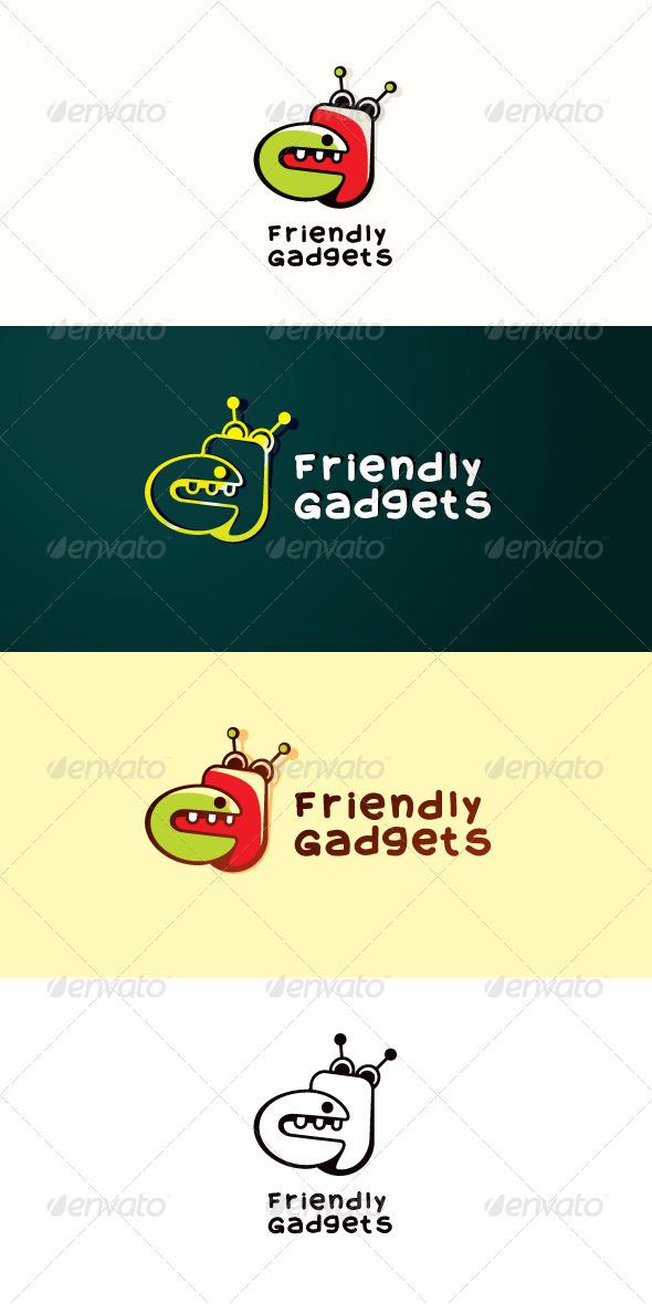 Friendly Gadgets Stock Logo Template