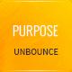 Purpose - Non-Profit Unbounce Template - ThemeForest Item for Sale