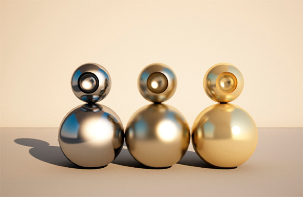 Gold and Shader 3D Materials & 3D Shaders from 3DOcean