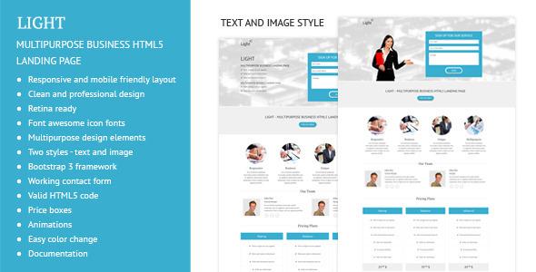 Light - Multipurpose Business Landing Page