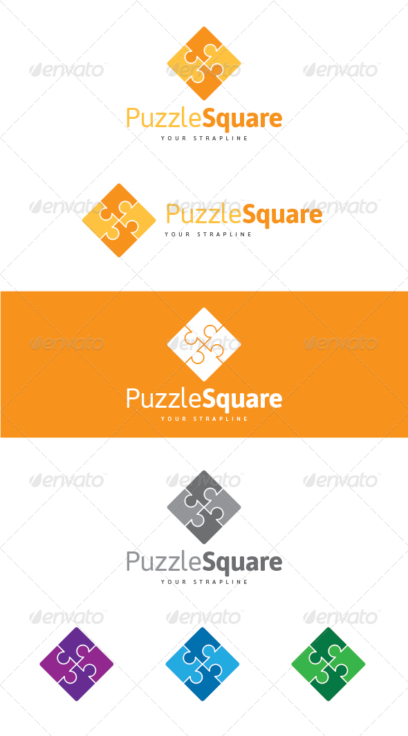 Puzzle Square Logo