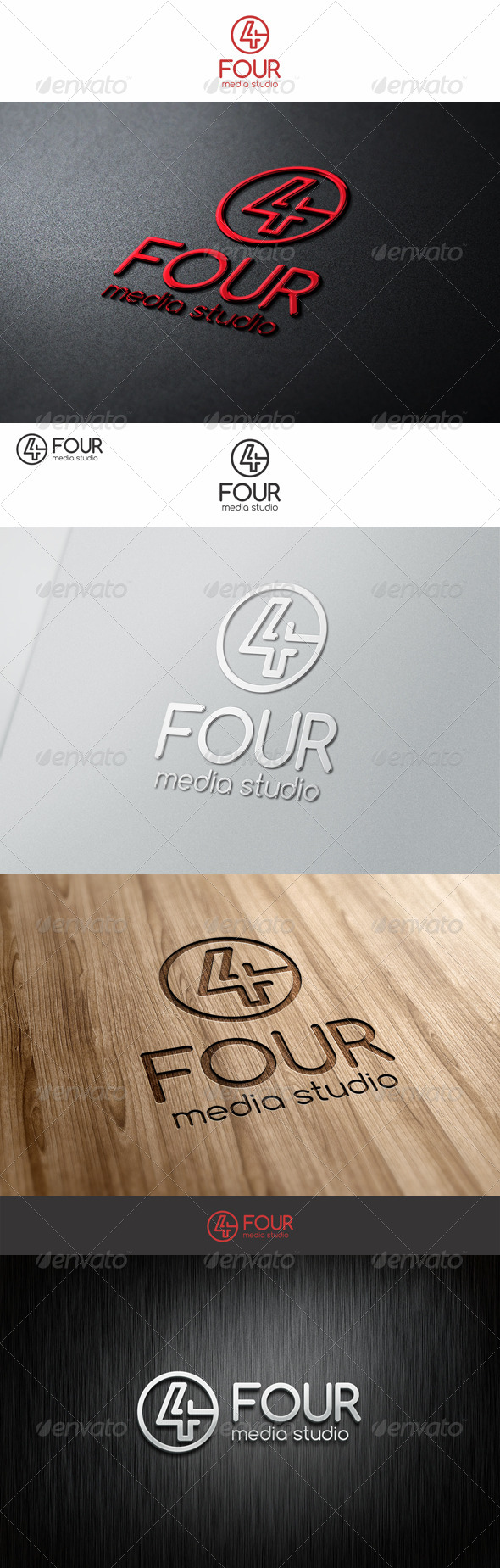 Four Logo Number