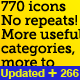 770 Icons, Almost all You'll Ever Need in 1 Place - GraphicRiver Item for Sale