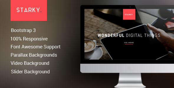 Starky - Responsive One Page  Parallax