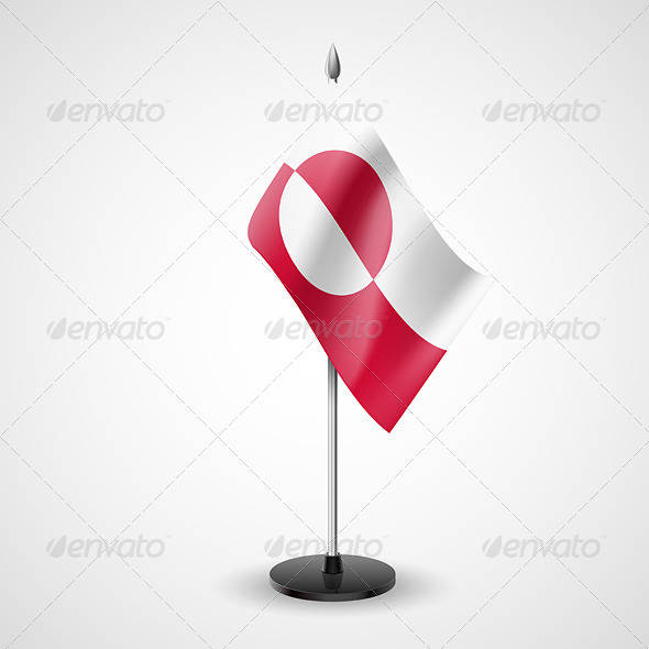 Table Flag of Greenland