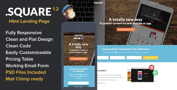 DotSquare HTML Landing Page