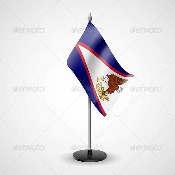 Table Flag of American Samoa