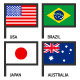 220 Flags of World - GraphicRiver Item for Sale