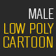 Low Poly Adult Male Cartoon - 3DOcean Item for Sale