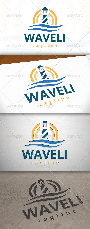 Wave Lighthouse Logo