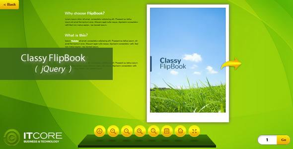 Classy FlipBook Responsive jQuery Plugin
