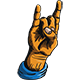 Rock and Metal Hand Sign - GraphicRiver Item for Sale