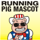 Running Pig Mascot - GraphicRiver Item for Sale
