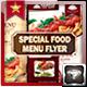 Special Food Menu Flyer  - GraphicRiver Item for Sale