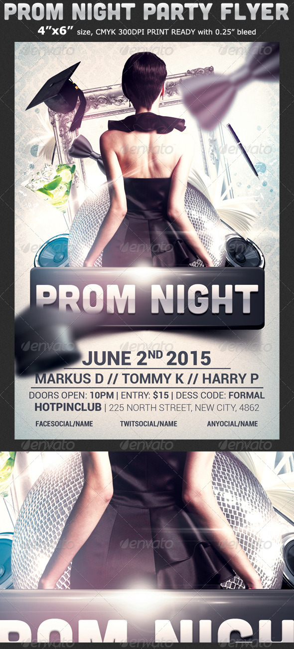 Prom Flyer Graphics Designs Templates From Graphicriver