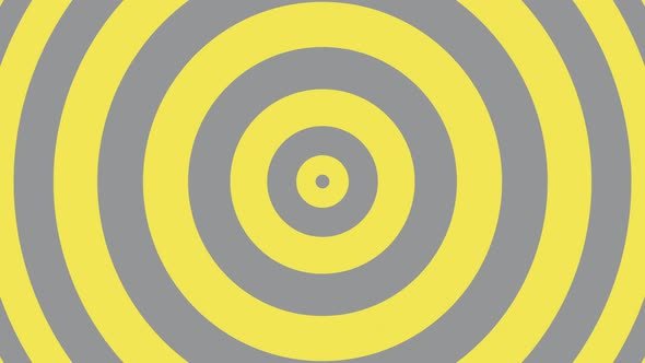 Simple geometric background with yellow and grey circles. Trendy color palette motion graphics
