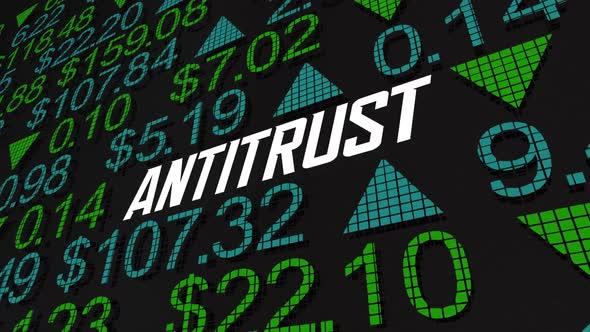 Antitrust Stock Market Financial Company Rule Law Regulation 3d Animation