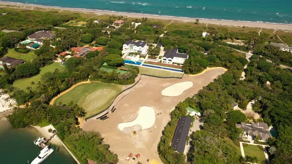 World Famous Professional Golf Player Tiger Woods House Aerial Video