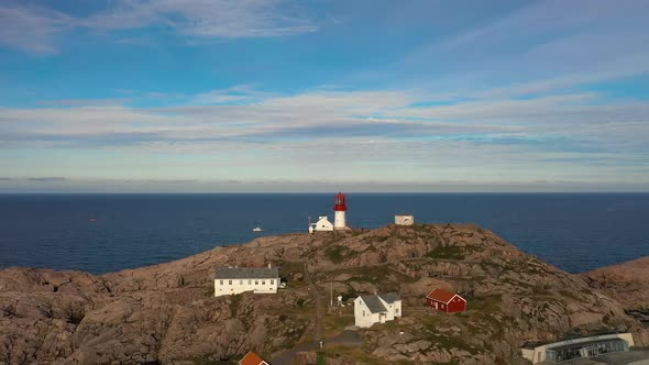 Coastal Lighthouse. Lindesnes Lighthouse Is a Coastal Lighthouse at the Southernmost Tip of Norway.