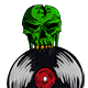 DJ Skull and Plate - GraphicRiver Item for Sale